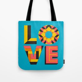 LOVE - Turquoise Tote Bag