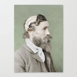 Robert McGee Scalping Survivor c.1890 - Colourised Canvas Print