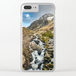 Tryfan and Ogwen Falls Clear iPhone Case