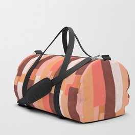 Line In Coral #society6 #abstractart Duffle Bag