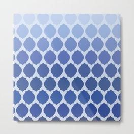 Morocco- Blue Metal Print