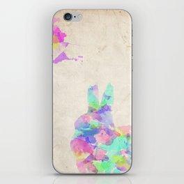 Watercolor Bunny Rabbit iPhone Skin