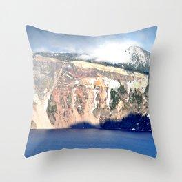 MOUNTAINS AROUND CRATER LAKE - OREGON Throw Pillow