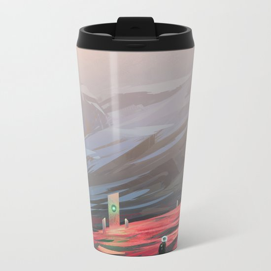 Alien Monolith Metal Travel Mug
