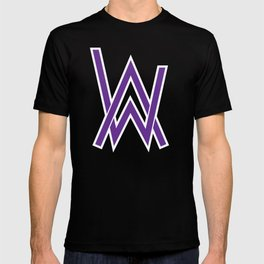 alan walker initial purple T-shirt