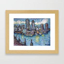 Boston Harbor Framed Art Print