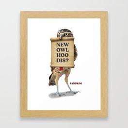 New Owl Hoo Dis Framed Art Print