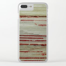 Nest - wrapped string red and white Clear iPhone Case