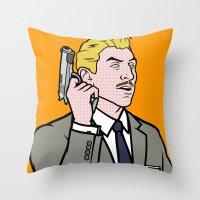 lichtenstein Throw Pillows featuring Ray Lichtenstein by turantuluy