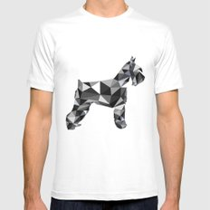 poli schnauzer SMALL White Mens Fitted Tee
