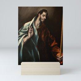 """El Greco (Domenikos Theotokopoulos) """"Saint Thomas"""" Mini Art Print"""