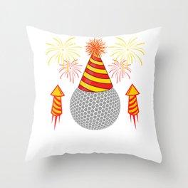 Golf Golfer Field Happy New Year 2020 January 1st Fireworks Merry Christmas Xmas T-shirt Design Throw Pillow