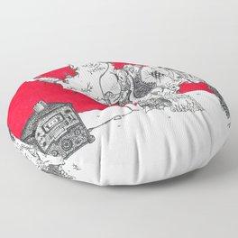 Red Rhino Floor Pillow