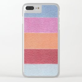 Painted Wall - Color Blocks / Color Palette No 5 Clear iPhone Case