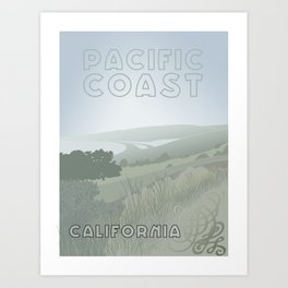 Pacific Coast - California Art Print