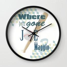 Joe di Maggio Wall Clock