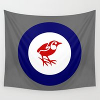 maori Wall Tapestries featuring Rockwren Air Force Roundel by mailboxdisco