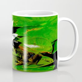 Frog with lily flower reflection Coffee Mug