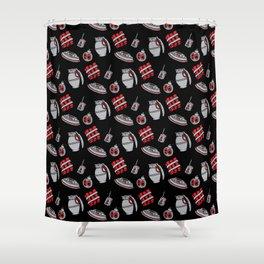 Explosives (Pattern) Shower Curtain