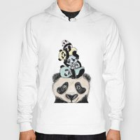 pandas Hoodies featuring pandas by Svenningsenmoller Design