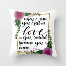 Shakespeare quote Throw Pillow