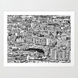 Paris - Blick vom Eiffelturm Art Print