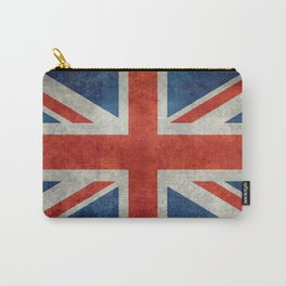 "UK Union Jack flag ""Bright"" retro grungy style Carry-All Pouch"