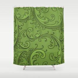 Greenery Swirls Shower Curtain