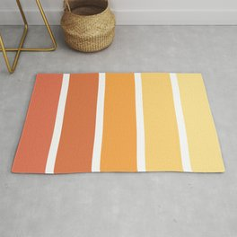 Stripes sunny orange and yellow happy mood color pallet swatch Rug