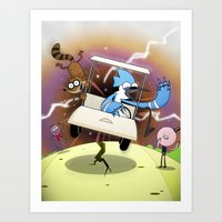 regular show Art Prints featuring Regular Show Vortex by Geoff Munn