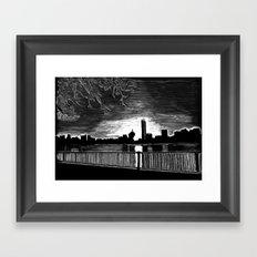 Boston, Back Bay at Sunrise Framed Art Print