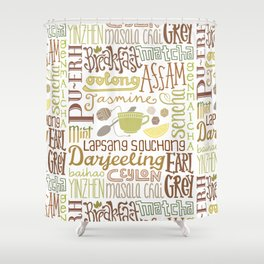 Teapography Shower Curtain
