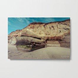 rock formation on solana beach, san diego, california Metal Print