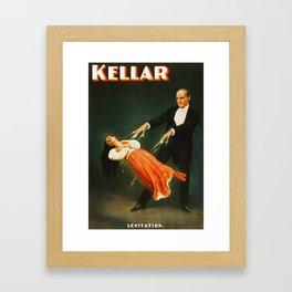 Vintage Kellar Magician - Levitation Framed Art Print