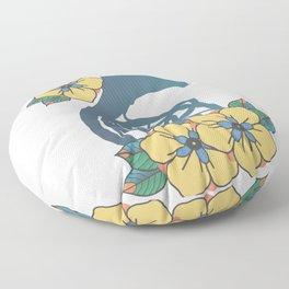 Blue French Horn Floor Pillow