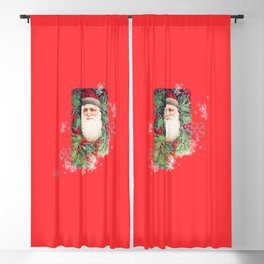 SANTA CLAUS with Stainled Glass effect Blackout Curtain