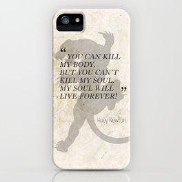 Famous Last Words: Huey Newton iPhone Case