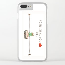 I love you dad boy Clear iPhone Case