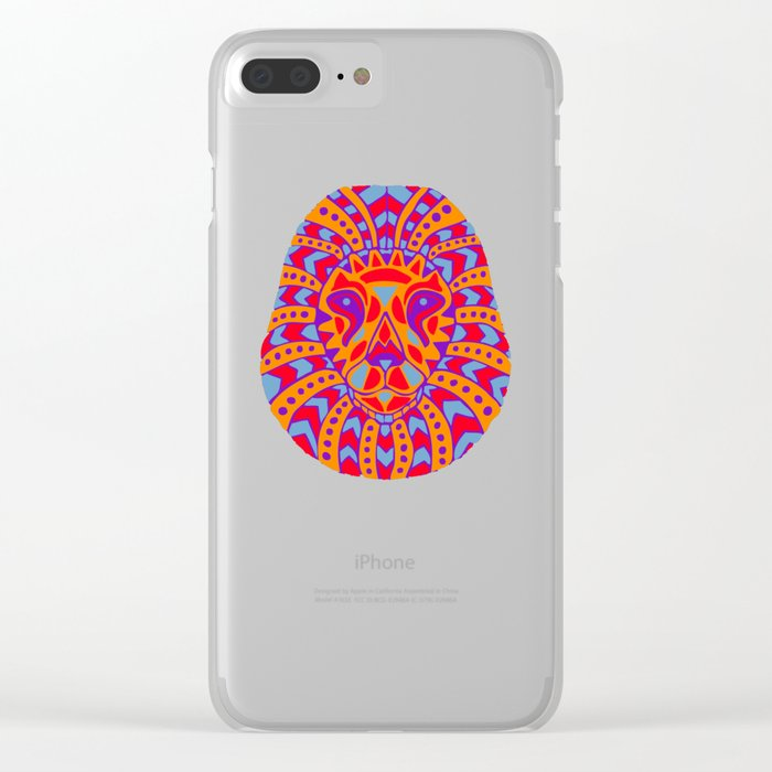 Abstract Lion Design #8 Clear iPhone Case