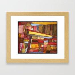 I Saw Red Framed Art Print
