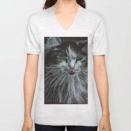 Oreo the cat Unisex V-Neck