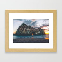 Jagged Rock Island Framed Art Print