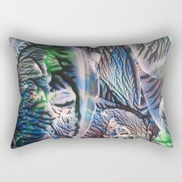 Polychromatic Agate Rectangular Pillow