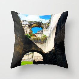 Ruins in Antigua, Guatemala Throw Pillow