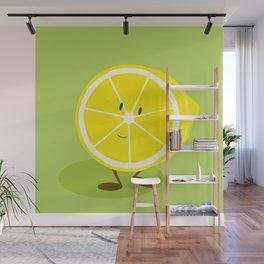 Half lemon character Wall Mural