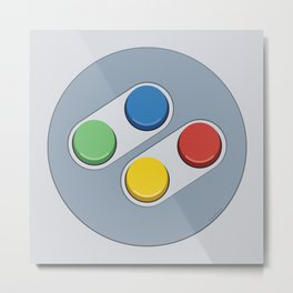 Super Nintendo - Buttons Metal Print