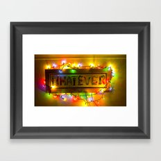 Word that defines a generation? Framed Art Print