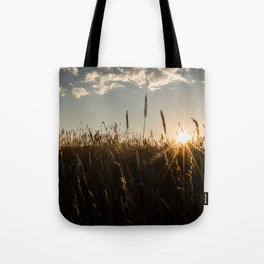 Wyoming Wheat Field Sunset Tote Bag