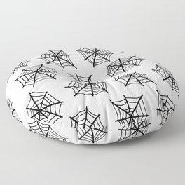 Black Webs Floor Pillow