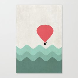 The Hot Air Balloon {The Boring Afternoon Design Series} Canvas Print